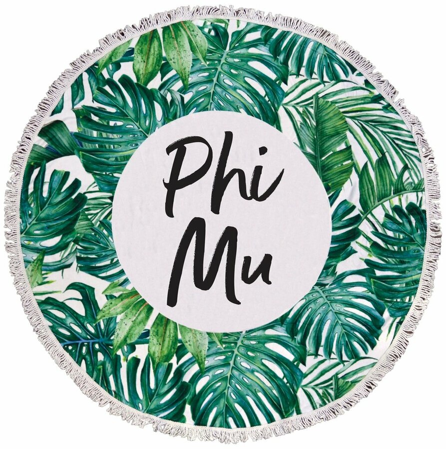 Phi Mu Palm Leaf Fringe Towel Blanket