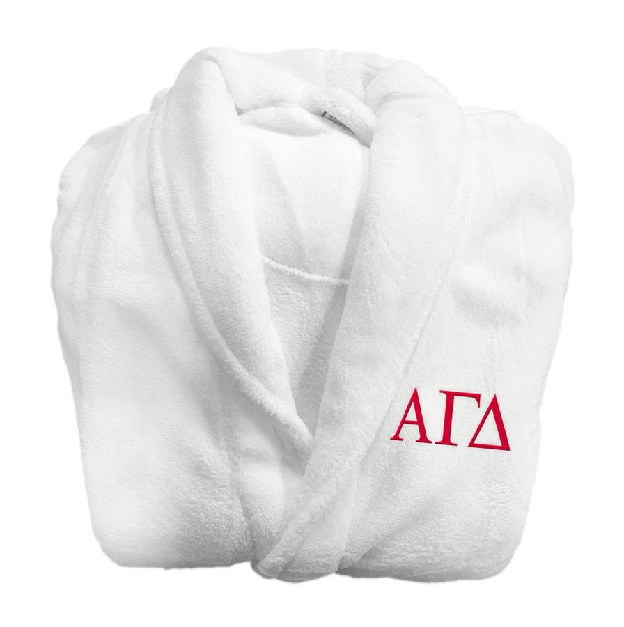 Alpha Gamma Delta Greek Letter Bathrobe