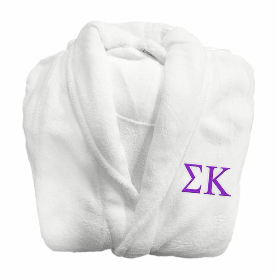Sigma Kappa Greek Letter Bathrobe