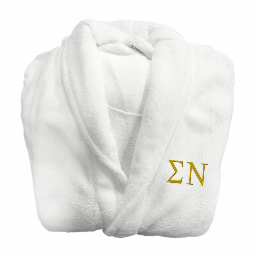 Sigma Nu Fraternity Lettered Bathrobe