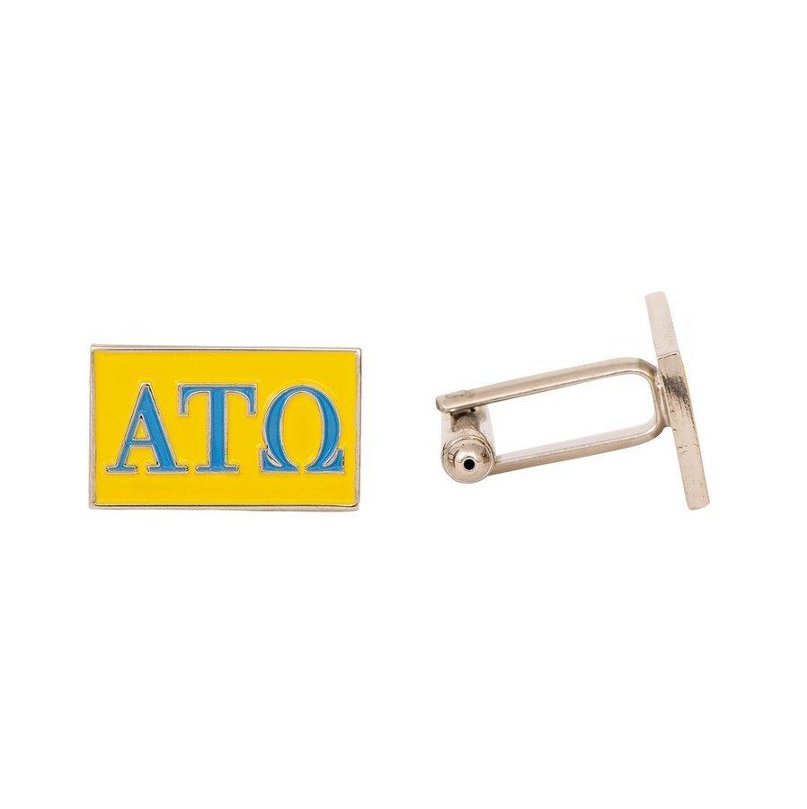 Alpha Tau Omega Rectangle Cuff Links