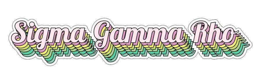 Sigma Gamma Rho Step Decal Sticker