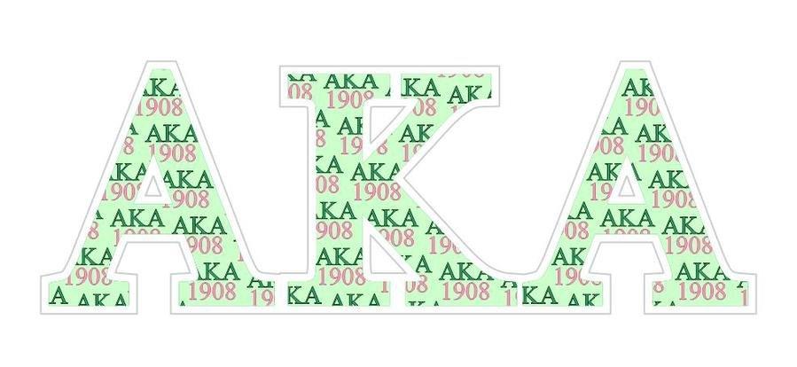 """Alpha Kappa Alpha Mascot Greek Letter Sticker - 2.5"""" Tall"""