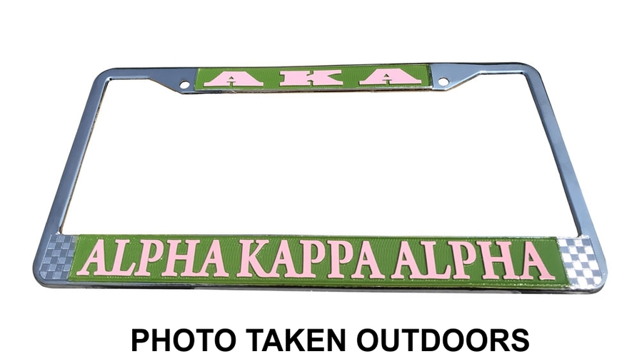Alpha Kappa Alpha Metal License Plate Frame - 2 for $25!