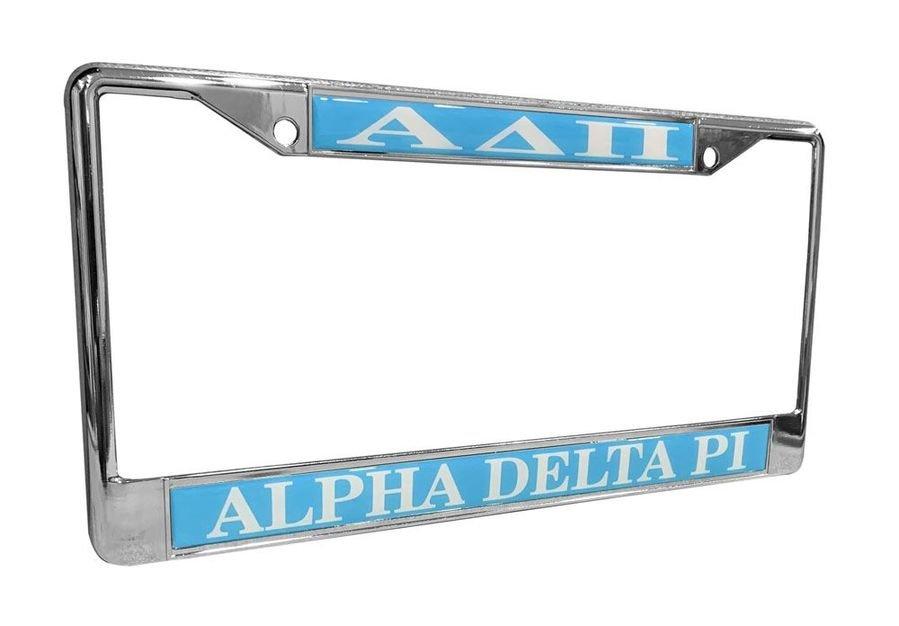 Alpha Delta Pi License Plate Frame
