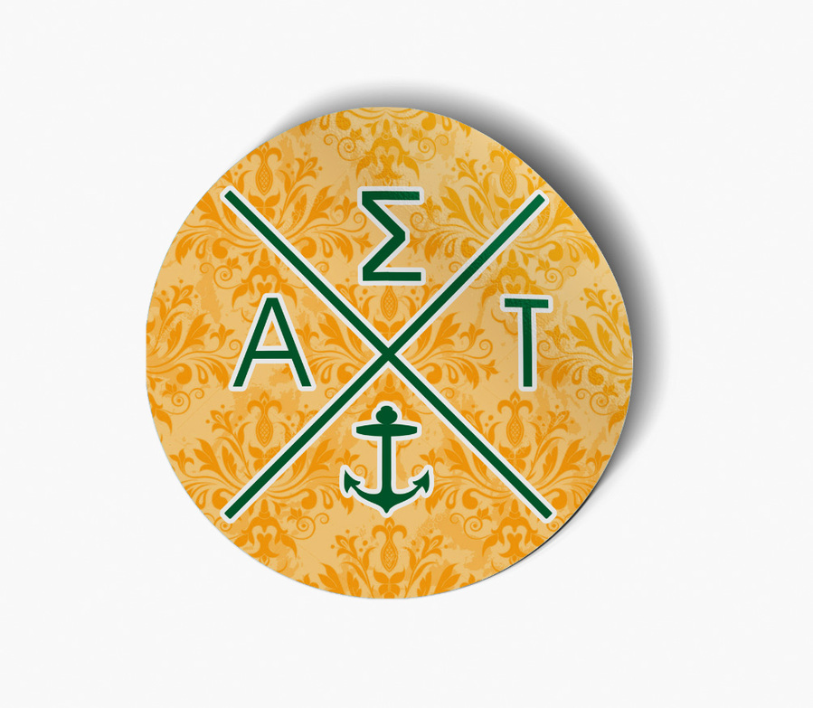 Alpha Sigma Tau Well Balanced Round Decals