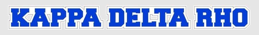 Kappa Delta Rho Long Window Sticker
