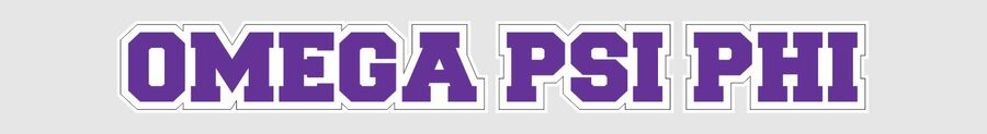 Omega Psi Phi Long Window Sticker