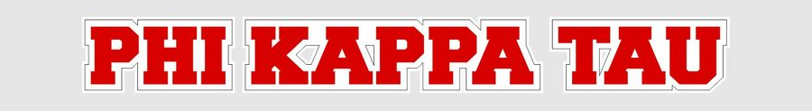 Phi Kappa Tau Long Window Sticker