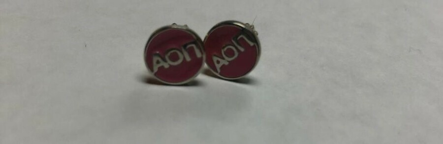 Super Savings - Alpha Omicron Pi Earrings - PINK