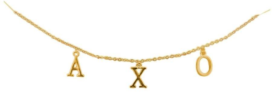 Alpha Chi Omega - AXO Sorority Letter Necklace