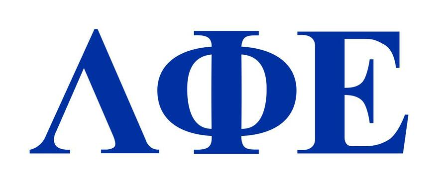 Lambda Phi Epsilon Greek Letter Window Sticker Decal