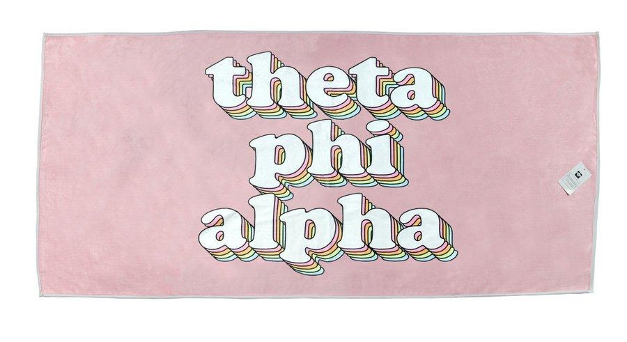 Theta Phi Alpha Plush Retro Beach Towel
