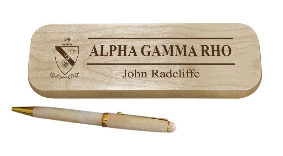Alpha Gamma Rho Maple Wood Pen Set