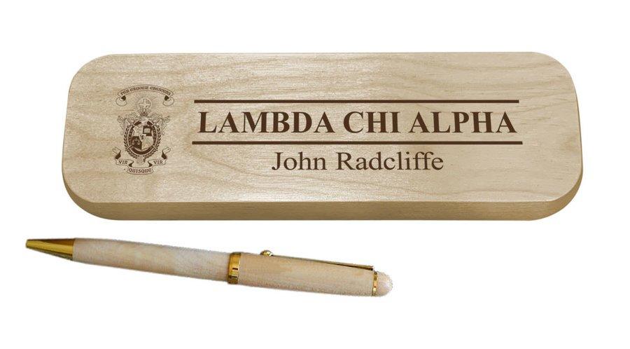 Lambda Chi Alpha Maple Wood Pen Set