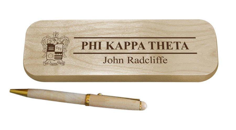 Phi Kappa Theta Maple Wood Pen Set