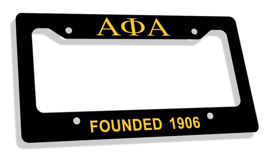 Alpha Phi Alpha Fraternity Founded License Plate Frame