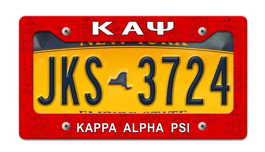 Kappa Alpha Psi License Plate Frame