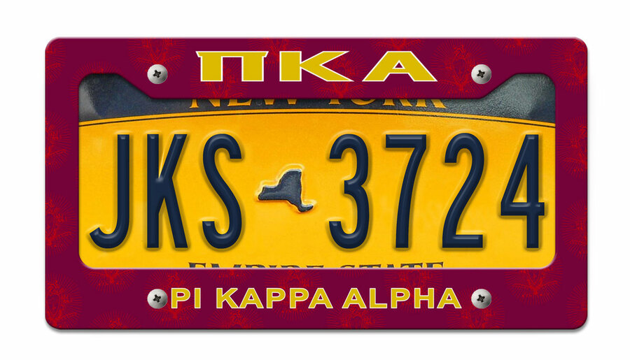 Pi Kappa Alpha License Plate Frame