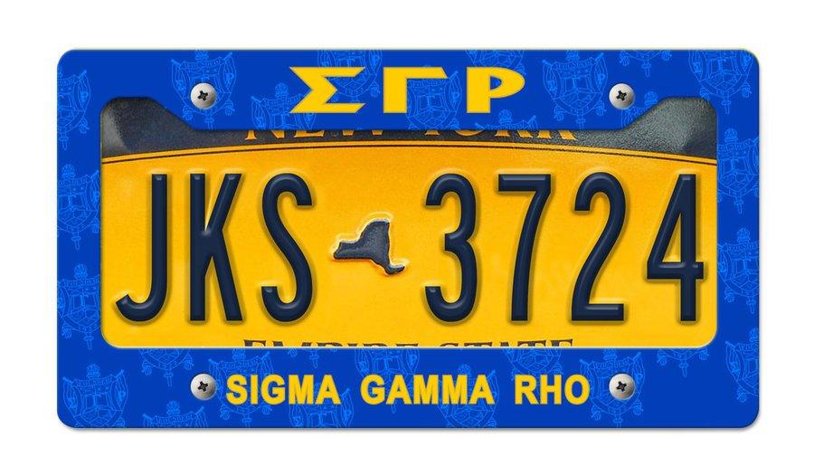 Sigma Gamma Rho New License Plate Frame