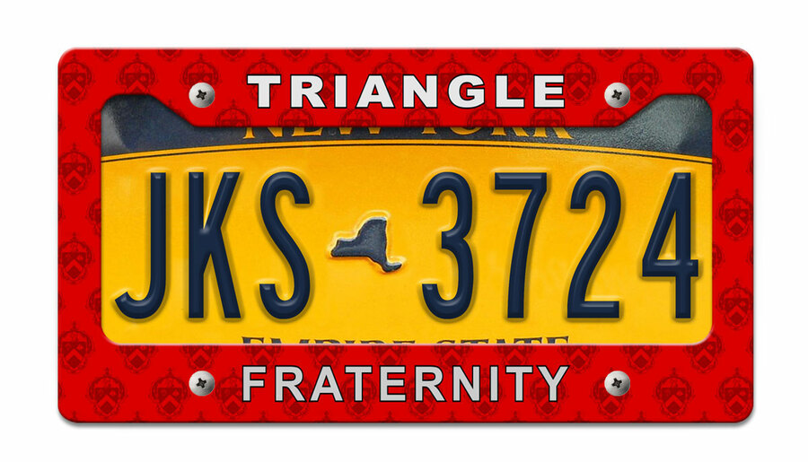 Triangle Fraternity License Plate Frame