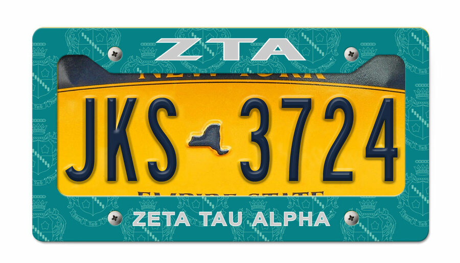 Zeta Tau Alpha New License Plate Frame