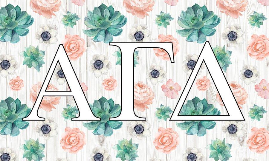 Alpha Gamma Delta New Succulent Flag