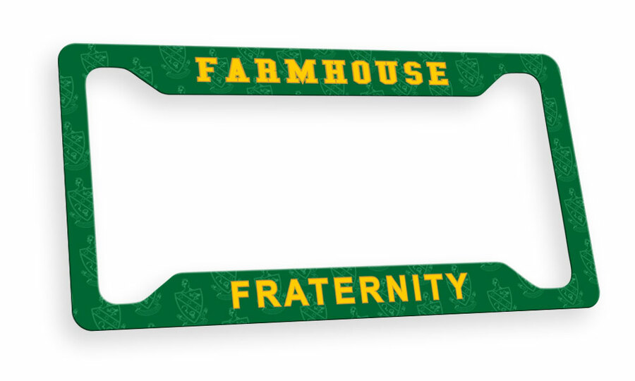 FarmHouse Fraternity Custom License Plate Frame