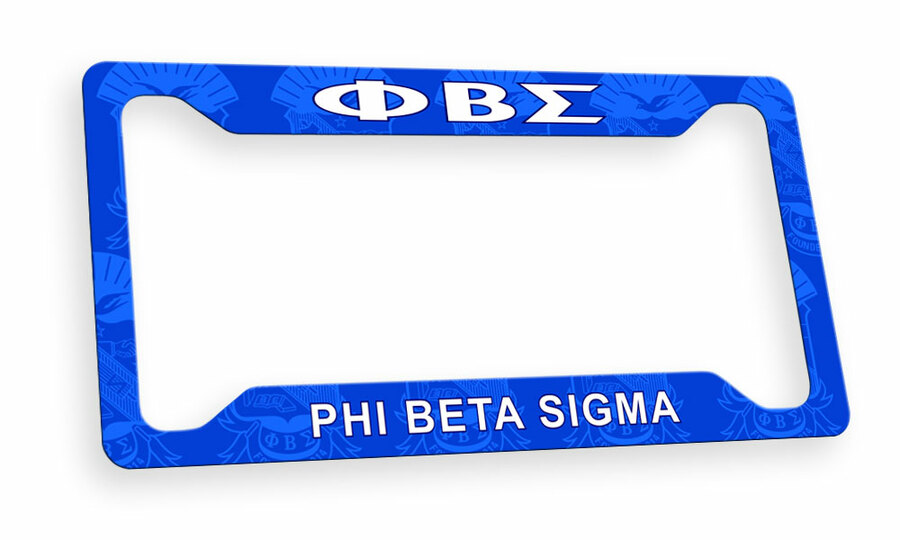 Phi Beta Sigma Custom License Plate Frame