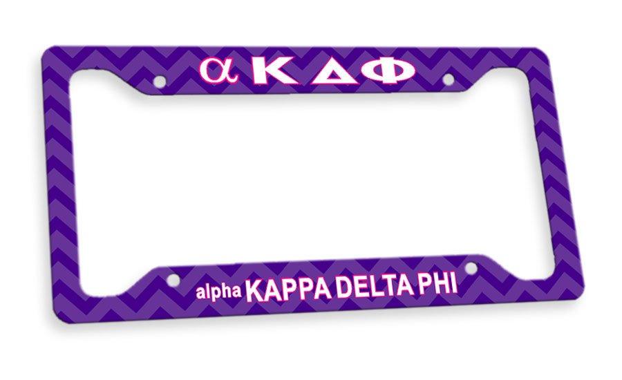 alpha Kappa Delta Phi Custom License Plate Frame