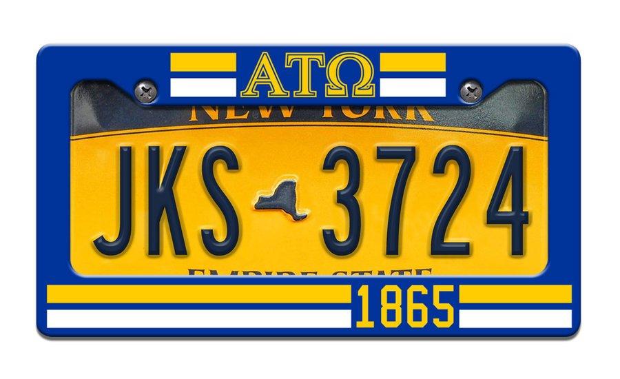 Alpha Tau Omega Year License Plate Frame