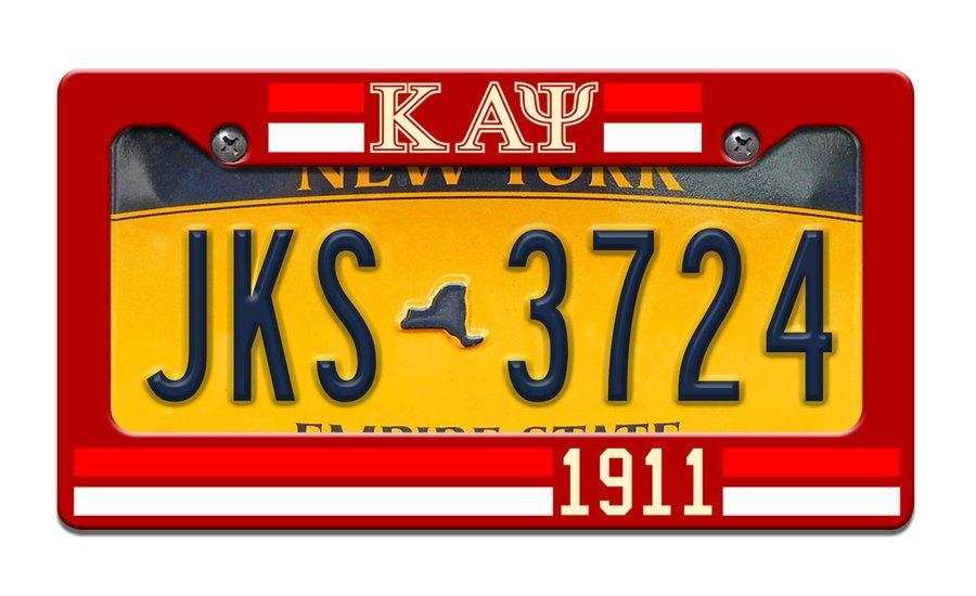 Kappa Alpha Psi Year License Plate Frame