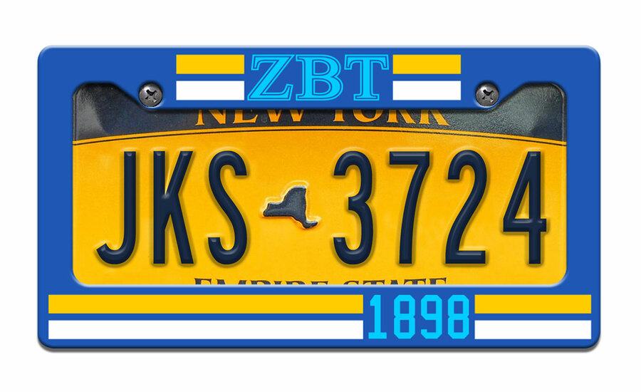 Zeta Beta Tau Year License Plate Frame