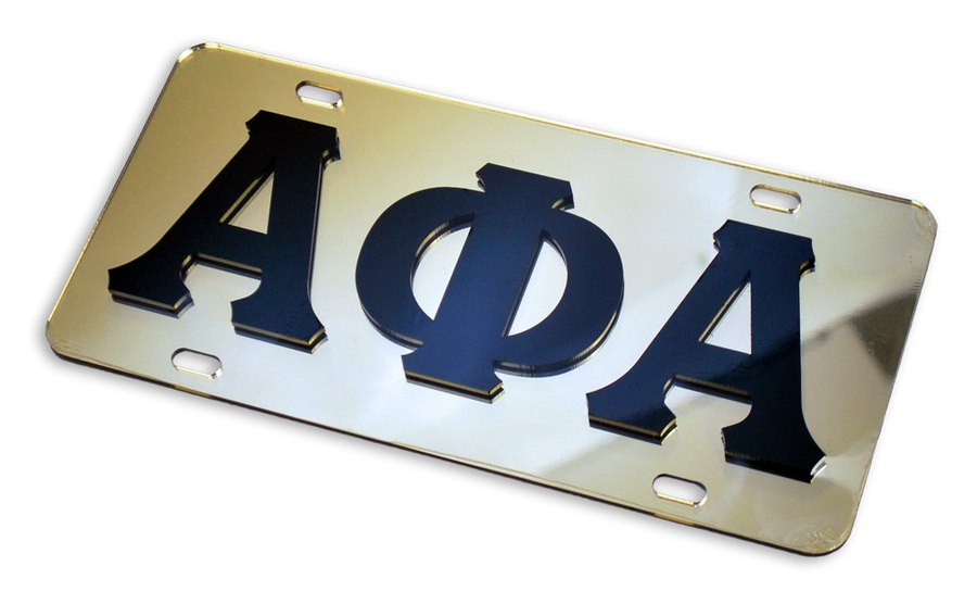 Alpha Phi Alpha Fraternity Mirrored License Plate Cover
