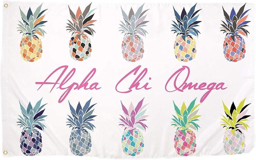 Alpha Chi Omega Pineapple Flag