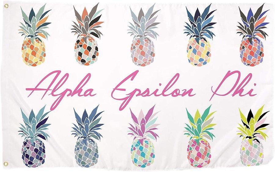 Alpha Epsilon Phi Pineapple Flag