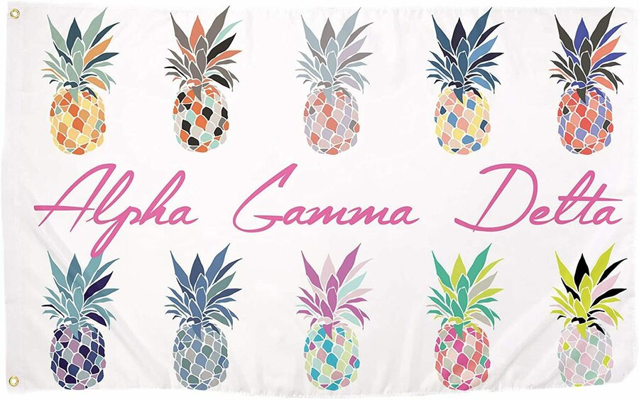 Alpha Gamma Delta Pineapple Flag