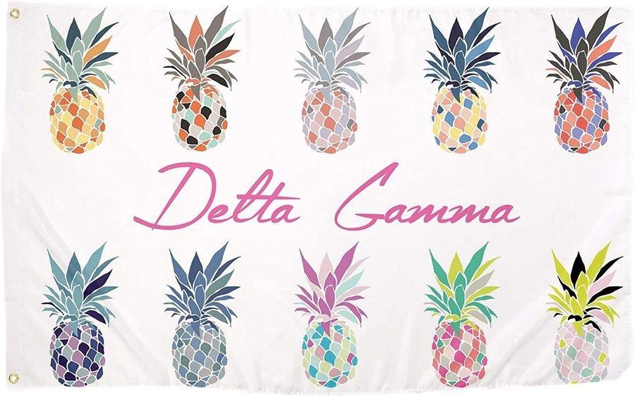Delta Gamma Pineapple Flag