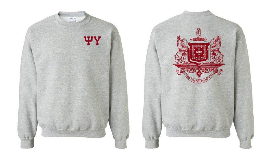 Psi Upsilon World Famous Crest - Shield Printed Crewneck Sweatshirt- $25!