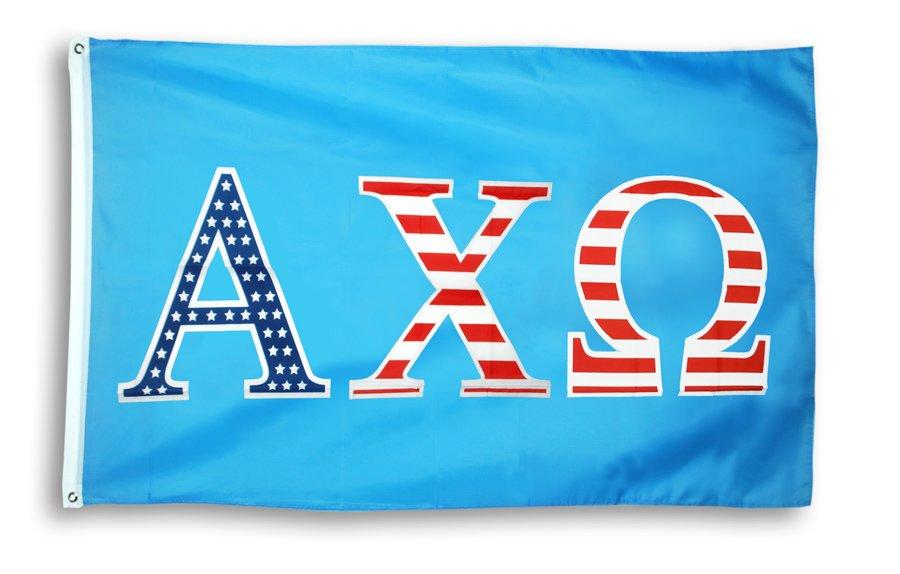 Alpha Chi Omega 3 X 5 USA Flag