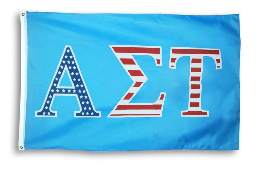 Alpha Sigma Tau 3 X 5 USA Flag