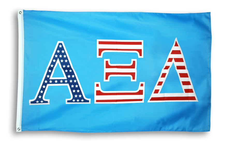 Alpha Xi Delta 3 X 5 USA Flag