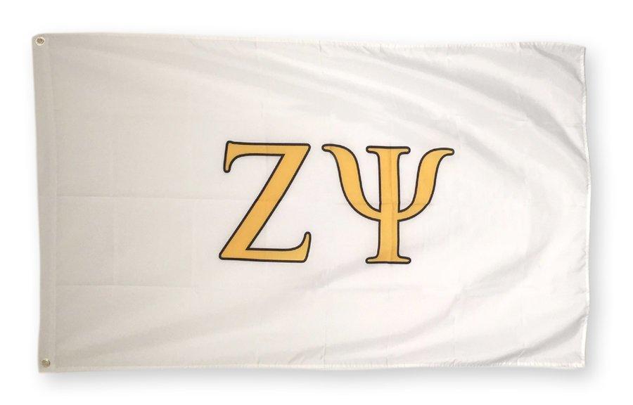 Zeta Psi Big Greek Letter Flag