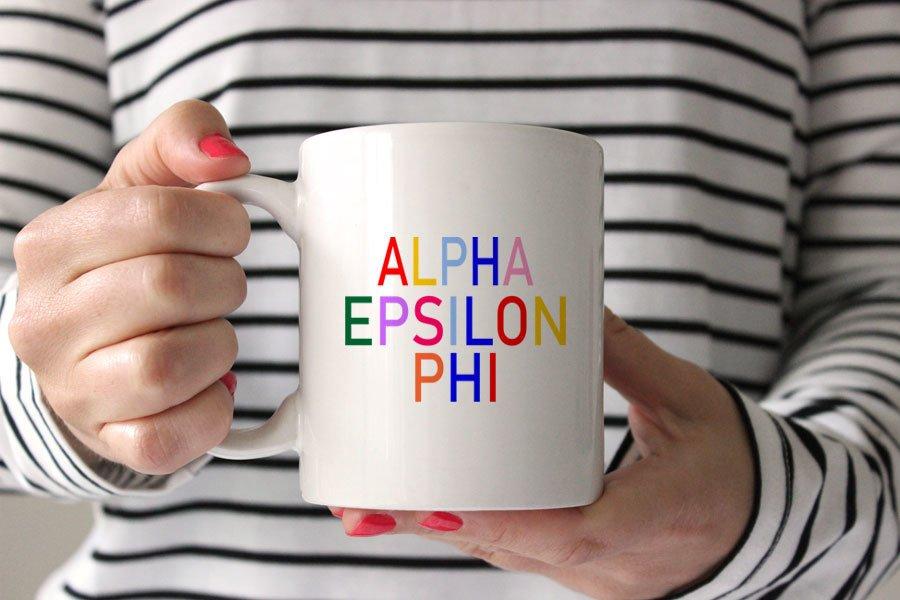 Alpha Epsilon Phi Rainbow Coffee Mug