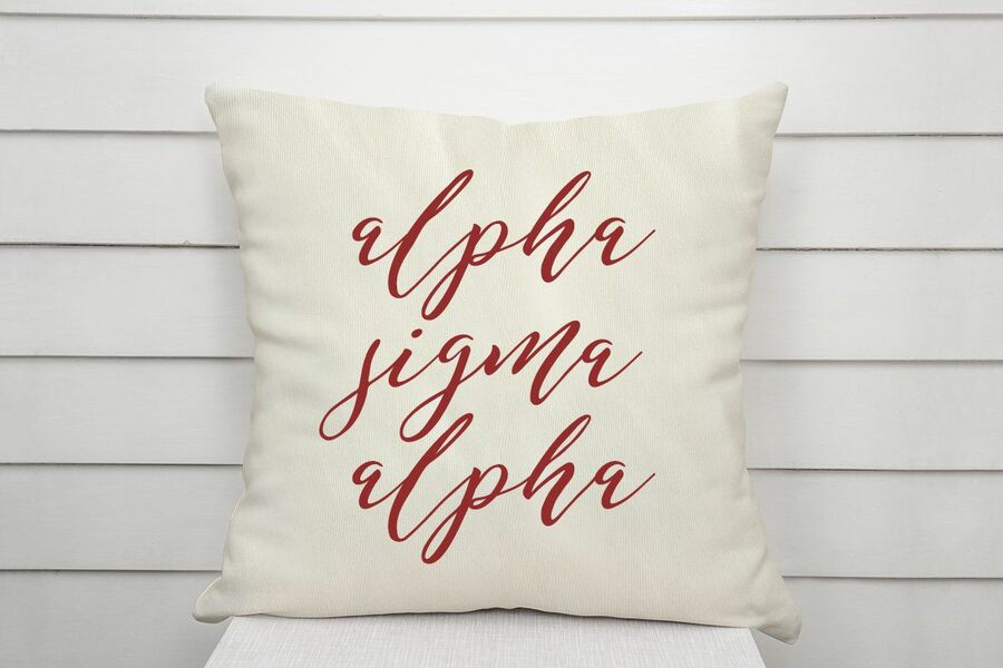 Alpha Sigma Alpha Script Pillow