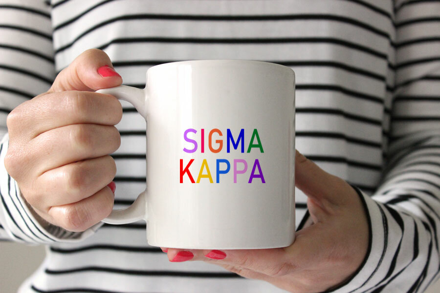 Sigma Kappa Rainbow Coffee Mug