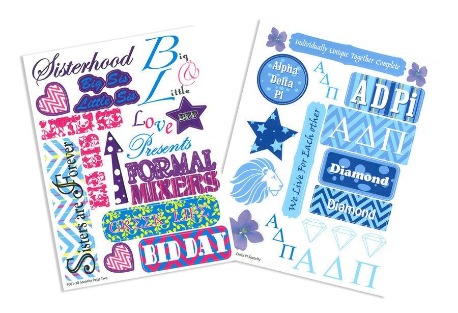 Sorority Craft Stickers