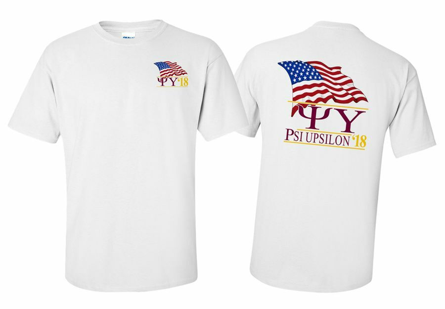 Psi Upsilon Patriot Limited Edition Tee- $15!