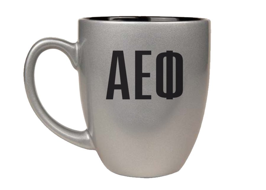 Alpha Epsilon Phi Letters Engraved Bistro Mug