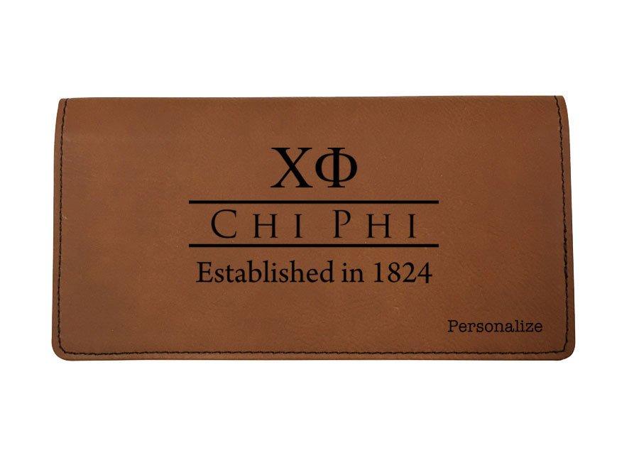 Chi Phi Leatherette Checkbook Cover